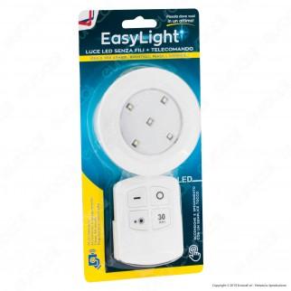 Intergross Easy Light Luce LED Senza Fili Colore Bianco con Telecomando