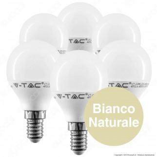 V-Tac VT-2266 Super Saver Pack Confezione 6 Lampadine LED E14 5,5W MniGlobo - SKU 2733 / 2734 / 2735