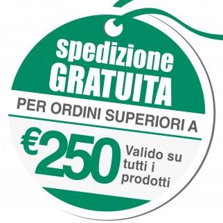 Spedizione Gratuita Acquistando 250€ Iva Escl. di Prodotti