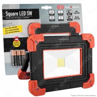 CFG Faro LED COB 5W Portatile a Batteria - mod. EL057