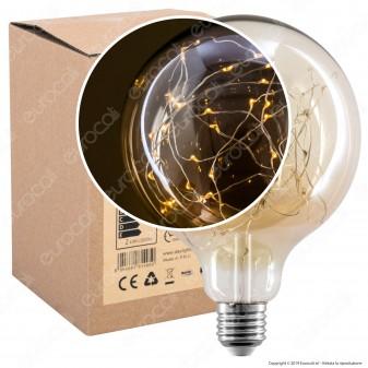 Daylight Lampadina E27 Filo MicroLED MIlleluci 1,5W Globo G125 Effetto Lucciole - mod. 700683.00A