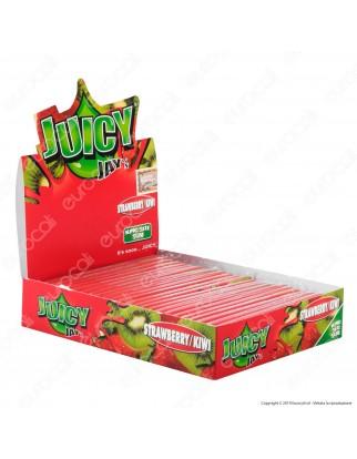 Cartine Juicy Jay's Lunghe King Size Slim Aroma Fragola e Kiwi- Scatola Da 24 Libretti