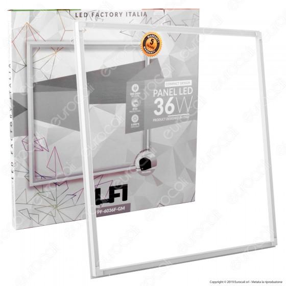Led Factory Italia Pannello LED a Cornice 60x60 36W SMD con Driver