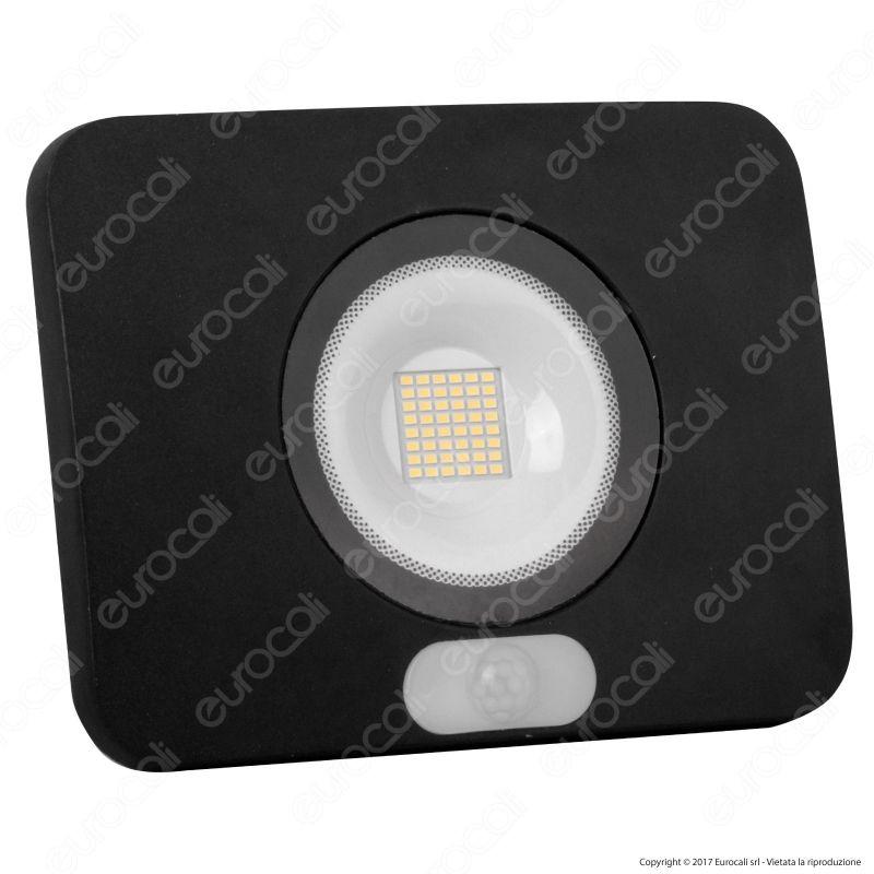 100% autentico immagini ufficiali sfumature di Faretto LED 50W Led Factory Italia Ultra Sottile con Sensore ...