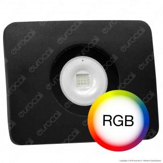 Led Factory Italia Faro LED RGB Multicolore10W da Esterno con Telecomando Infrarossi - mod. FL-10RGB