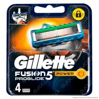 Gillette Fusion Proglide Power Ricarica di 4 Testine per Tutti i Rasoi Gillette Fusion