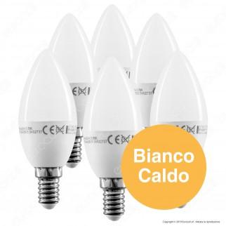 V-Tac VT-2246 Super Saver Pack Confezione 6 Lampadine LED E14 5,5W Candela - SKU 2736 / 2737 / 2738