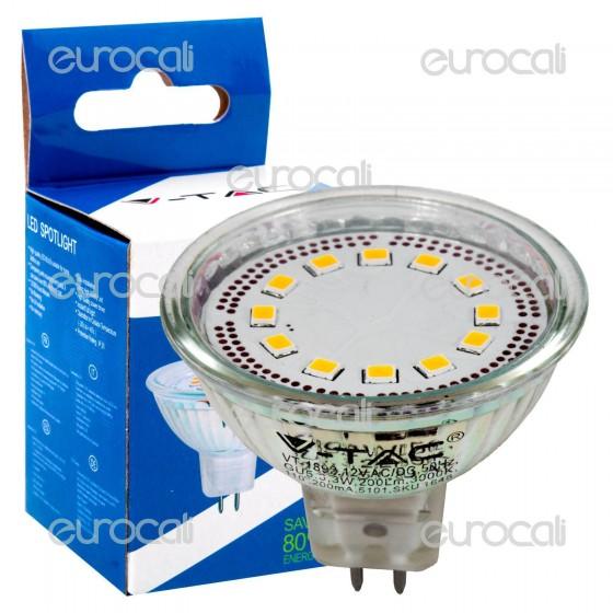 V-Tac VT-1892 Lampadina LED GU5.3 3W Faretto Spotlight