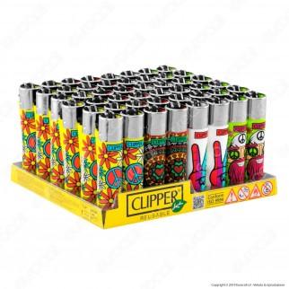 Clipper Large Fantasia Hippie Chic 1 - Box da 48 Accendini