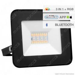 V-Tac VT-5020 Faro LED 20W con Wireless Smart Control RGB+W Dimmerabile 100° - SKU 5985