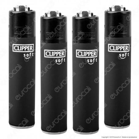 Clipper Micro Fantasia Soft Black - 4 Accendini