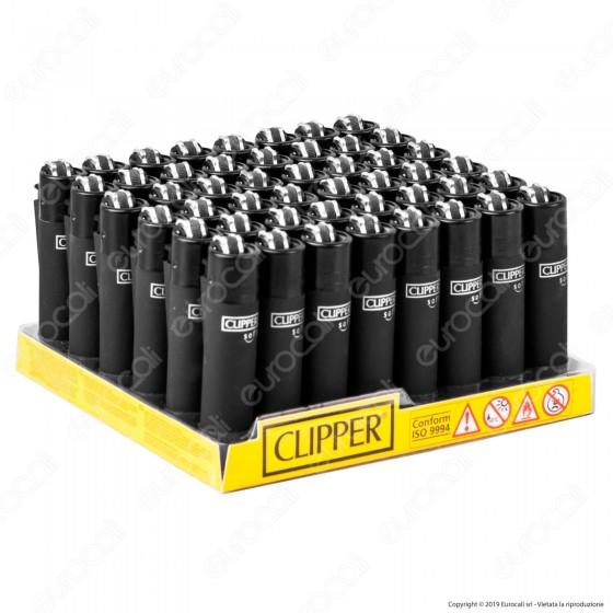 Clipper Micro Fantasia Soft Black - Box da 48 Accendini