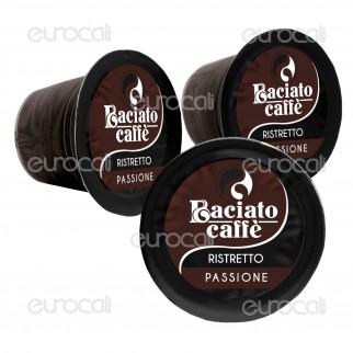 100 Capsule Baciato Caffè Passione Impetuosa Ristretto Cialde Compatibili Nespresso