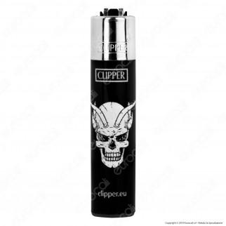 Clipper Micro Fantasia Mad Skulls - Box da 48 Accendini