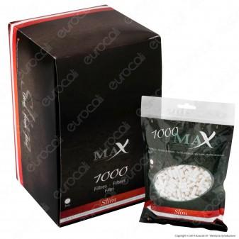 Max Filtri Slim 6mm - Box 7 Bustine da 1000 Filtri