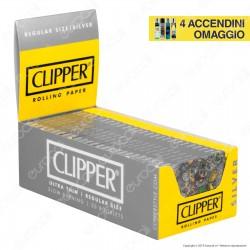 Cartine Clipper Argento Corte - Scatola da 50 Libretti