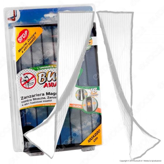 Intergross Buzz Away Zanzariera Magnetica con Chiusura Automatica Colore Bianca