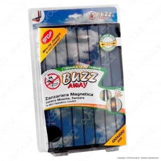 Kit 2 Buzz Away Intergross Zanzariera Magnetica con Chiusura Automatica