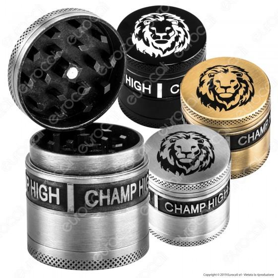 Grinder Tritatabacco Champ Lion 4 Parti in Metallo