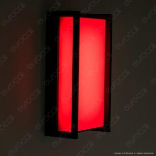 Lutec Qubo Lampada LED da Muro 16W RGB+W 3in1 WiFi IP54 - mod. 5193003118