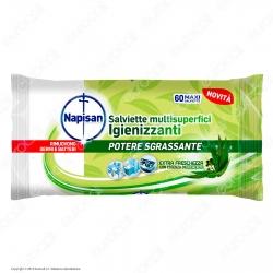 Napisan Wipes Salviette Multisuperfici Igienizzanti Eucalipto - Confezione da 60 Maxi Salviette