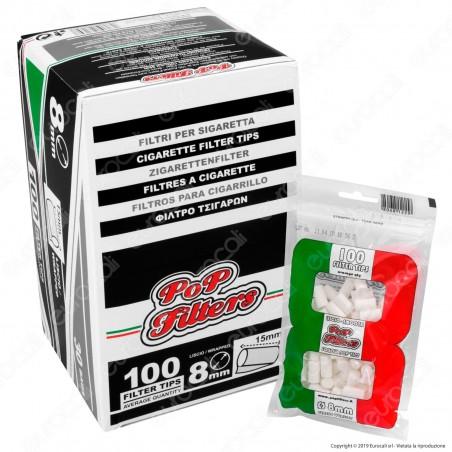 PROV-C00181005 - Pop Filters Regular 8mm Lisci - Box 30 Bustine da 100 Filtri