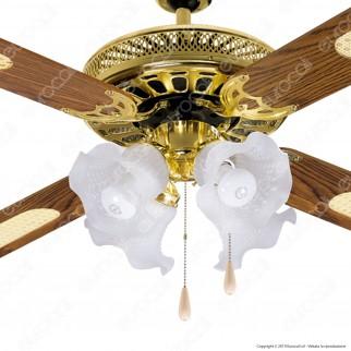 CFG Panama Ventilatore a Soffitto con Illuminazione 130 cm - Mod. EV027