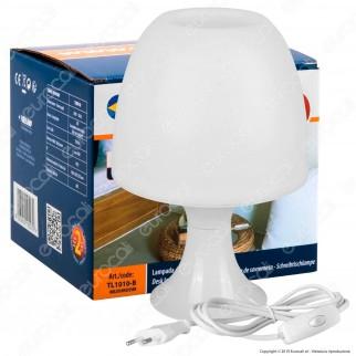 Velamp Lampada da Tavolo Mushroom con Portalampada per Lampadine E14 - mod. TL1010