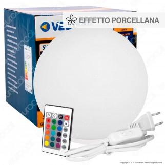 Velamp Lampada da Tavolo Glamour RGB+W 5W Multifunzione con Telecomando - mod. TL1810