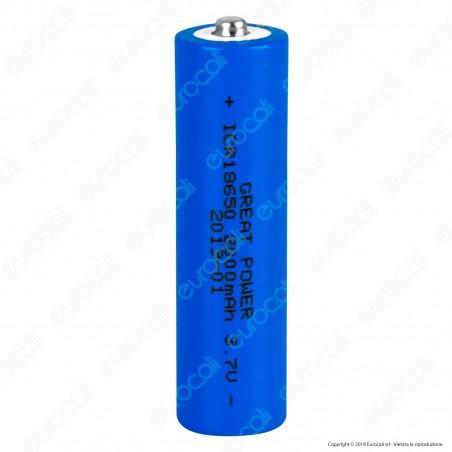 Velamp Batteria al Litio ICR 18650 - Batteria Singola