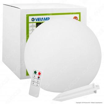 Velamp Solar Nova Sfera 0,4W con Luce LED RGB+W Pannello Solare e Telecomando - mod. SL528