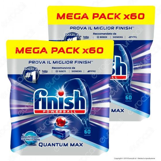 Kit Risparmio Finish Powerball Quantum Max per Lavastoviglie - 2 Confezioni da 60 Pastiglie