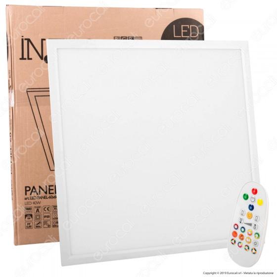 Fan Europe Intec Light Pannello LED 60x60 40W SMD RGB+W con Telecomando