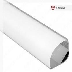 V-Tac VT-8105 Profilo Angolare in Alluminio per Strisce LED - Lunghezza 2 metri - SKU 3363