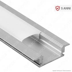 V-Tac VT-8106 Profilo in Alluminio per Strisce LED - Lunghezza 2 metri - SKU 3350