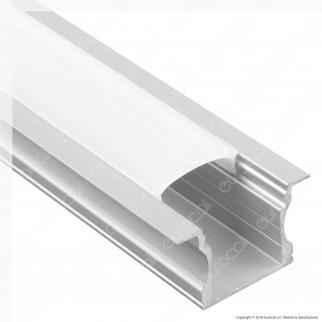 V-Tac VT-8107 Profilo in Alluminio per Strisce LED - Lunghezza 2 metri - SKU 3351