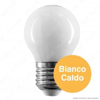 Intereurope Light Lampadina LED E27 4W MiniGlobo G45 Bianca Filamento - mod. LL-HBFM2704C