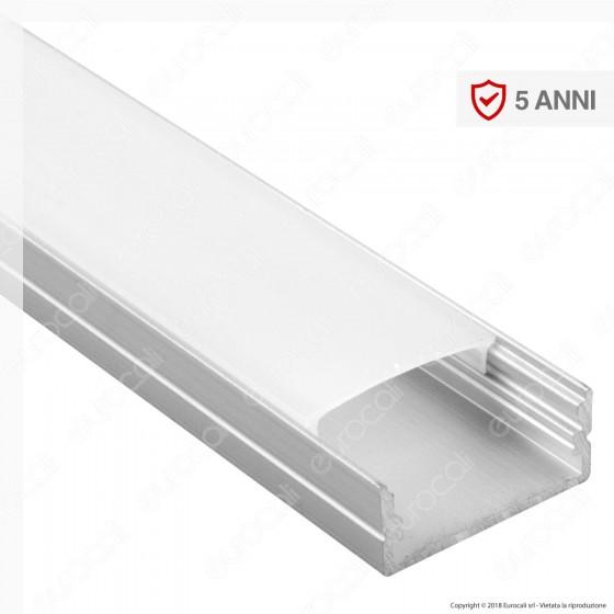 V-Tac VT-8108 Profilo in Alluminio per Strisce LED - Lunghezza 2 metri - SKU 3352