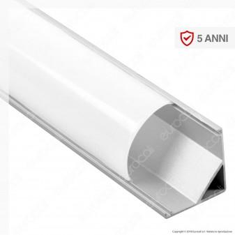V-Tac VT-8109 Profilo Angolare in Alluminio per Strisce LED - Lunghezza 2 metri - SKU 3353