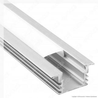 V-Tac VT-8115 Profilo in Alluminio per Strisce LED - Lunghezza 2 metri - SKU 3357