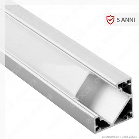 V-Tac VT-8114 Profilo Angolare in Alluminio per Strisce LED - Lunghezza 2 metri - SKU 3356