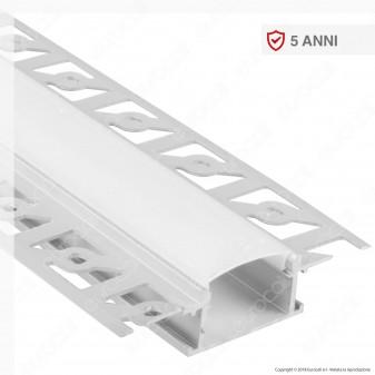 V-Tac VT-8101 Profilo in Alluminio a Scomparsa per Strisce LED - Lunghezza 2 metri - SKU 3359