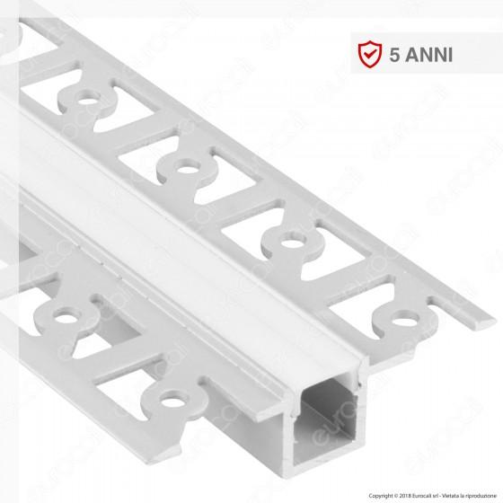 V-Tac VT-8102 Profilo in Alluminio a Scomparsa per Strisce LED - Lunghezza 2 metri - SKU 3360