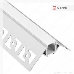 V-Tac VT-8103 Profilo Angolare in Alluminio a Scomparsa per Strisce LED - Lunghezza 2 metri - SKU 3361