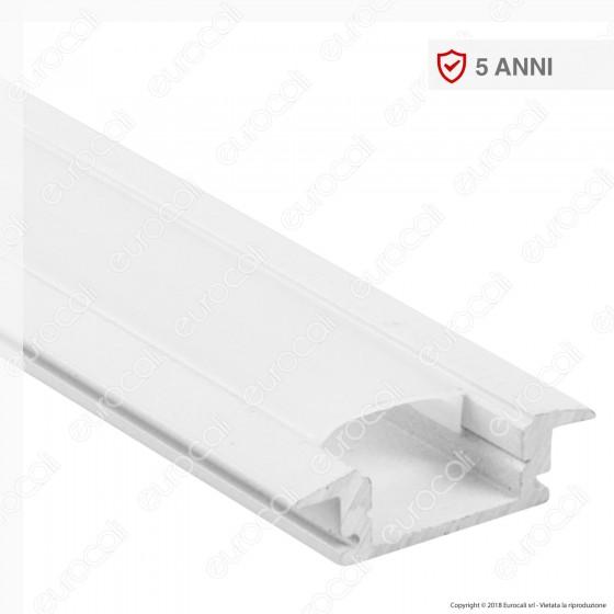 V-Tac VT-8106W Profilo in Alluminio per Strisce LED Colore Bianco - Lunghezza 2 metri - SKU 3368