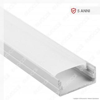 V-Tac VT-8108W Profilo in Alluminio per Strisce LED Colore Bianco - Lunghezza 2 metri - SKU 3367
