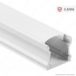 V-Tac VT-8110W Profilo in Alluminio per Strisce LED Colore Bianco - Lunghezza 2 metri - SKU 3366
