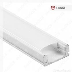 V-Tac VT-8113W Profilo in Alluminio per Strisce LED Colore Bianco - Lunghezza 2 metri - SKU 3365