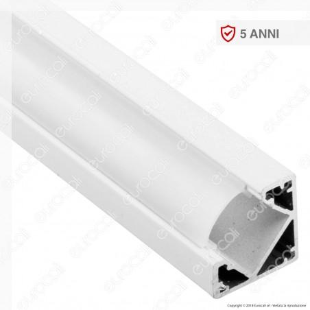 V-Tac VT-8114W Profilo Angolare in Alluminio per Strisce LED - Lunghezza 2 metri - SKU 3364