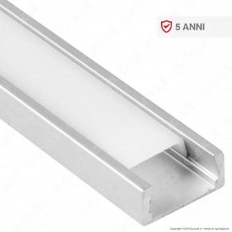 V-Tac VT-9327 Profilo in Alluminio per Strisce LED - Lunghezza 2 metri - SKU 3370